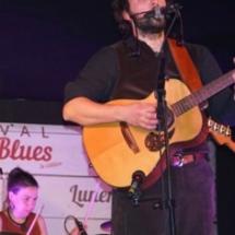 Le Chanteur et la Batteuse des Cotton Belly's au Potatoes Blues